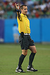15 July 2015: Referee Mark Geiger (USA). The Mexico Men's National Team played the Trinidad & Tobago Men's National Team at Bank of America Stadium in Charlotte, NC in a 2015 CONCACAF Gold Cup Group C match. The game ended in a 4-4 tie.