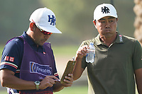 Hideto Tanihara (JPN) in action during the third round of the Omega Dubai Desert Classic, Emirates Golf Club, Dubai, UAE. 26/01/2019<br /> Picture: Golffile | Phil Inglis<br /> <br /> <br /> All photo usage must carry mandatory copyright credit (© Golffile | Phil Inglis)