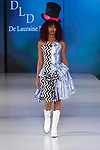 Model walks in an outfits from the De Lauraine Designs collection, at The Society Fashion Week on September 9, 2018 at The Roosevelt Hotel in New York City, during New York Fashion Week Spring Summer 2019.