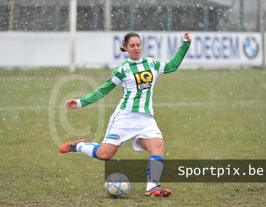 Club Brugge Dames - PEC Zwolle : Jolijn Heuvels .foto DAVID CATRY / Vrouwenteam.be