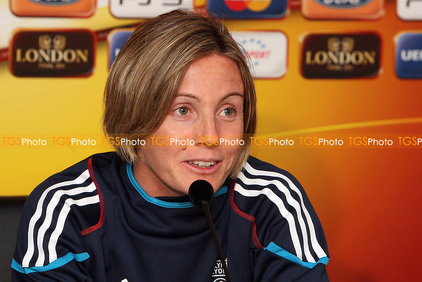 Sonia Bompastor of Olympique Lyonnais attends a press conference ahead of the UEFA Women's Champions League Final at Fulham FC - 25/05/11 - MANDATORY CREDIT: Gavin Ellis/TGSPHOTO - Self billing applies where appropriate - Tel: 0845 094 6026