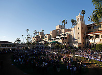 DEL MAR, CA - NOVEMBER 04: Spectators crowd the paddock before the Breeders' Cup Classic race on Day 2 of the 2017 Breeders' Cup World Championships at Del Mar Racing Club on November 4, 2017 in Del Mar, California. (Photo by Kazushi Ishida/Eclipse Sportswire/Breeders Cup/