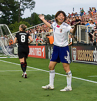 Saki Kumagai. The USWNT defeated Japan, 2-0,  at WakeMed Soccer Park in Cary, NC.