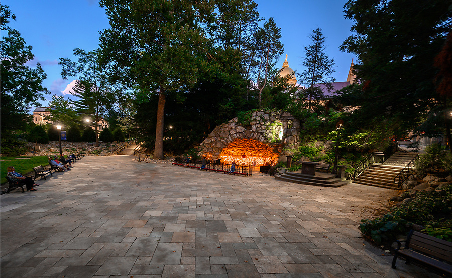 August 27, 2019; The Grotto following 2019 renovation and improvements (Photo by Matt Cashore/University of Notre Dame)