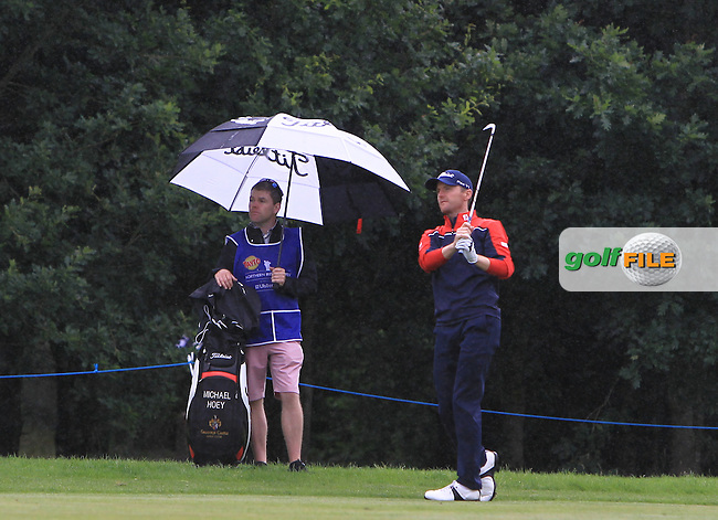 Michael Hoey (NIR) on the 16th fairway during Round 4 of the Tayto Northern Ireland Open in partnership with Ulster Bank at Galgorm Castle Golf Club, Ballymena Co. Antrim on Sunday 31st July 2016.<br /> Picture:  Golffile | Thos Caffrey<br /> <br /> All photos usage must carry mandatory copyright credit   (&copy; Golffile | Thos Caffrey)