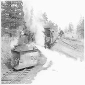 D&amp;RGW #476 rerailed after derailment caused by broken rail near Pinkerton.<br /> D&amp;RGW  Pinkerton, CO  Taken by Norwood, John B. - 3/29/1952