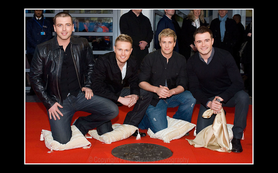 Westlife - Square of Fame - Arena Square, London - 28 March 2008