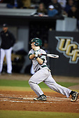 Siena Saints catcher Phil Madonna (3) at bat during a game against the UCF Knights on February 17, 2017 at UCF Baseball Complex in Orlando, Florida.  UCF defeated Siena 17-6.  (Mike Janes/Four Seam Images)