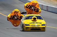 Jul. 18, 2010; Sonoma, CA, USA; NHRA pro stock driver Jeg Coughlin Jr during the Fram Autolite Nationals at Infineon Raceway. Mandatory Credit: Mark J. Rebilas-