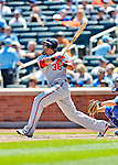 25 July 2012: Washington Nationals outfielder Michael Morse in action against the New York Mets at Citi Field in Flushing, NY. The Nationals defeated the Mets 5-2 to sweep their 3-game series. Mandatory Credit: Ed Wolfstein Photo
