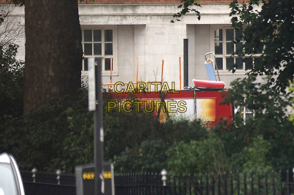 SCENE AT TAVISTOCK SQUARE.After the terrorist bomb blast, .London, July 7th 2005. .explosion double decker bus top deck no roof 7-7 7/7 terror attack double-decker red.Ref: PL.www.capitalpictures.com.sales@capitalpictures.com.©Capital Pictures
