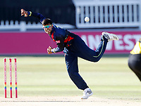Imran Qayyum bowls for Kent during the Vitality Blast T20 game between Kent Spitfires and Gloucestershire at the St Lawrence Ground, Canterbury, on Sun Aug 5, 2018
