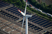 DEUTSCHLAND Hamburg Nordex Windraeder des staedtischen Energieversorger Hamburg Energie auf dem Gelaende des Klaerwerk Dradenau von Hamburg Wasser<br />   /<br /> GERMANY Hamburg , Nordex wind turbine at water treatment plant of Hamburg Water