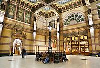 Nederland Groningen 2016. Wachtruimte bij het Station.  Foto Berlinda van Dam / Hollandse Hoogte