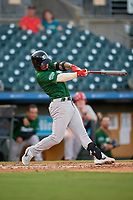 Daytona Tortugas third baseman Jonathan India (6) bats during a Florida State League game against the Palm Beach Cardinals on April 11, 2019 at Roger Dean Stadium in Jupiter, Florida.  Palm Beach defeated Daytona 6-0.  (Mike Janes/Four Seam Images)