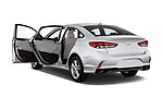 Car images close up view of a 2018 Hyundai Sonata SEL 4 Door Sedan doors