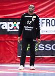 Eskilstuna 2014-10-03 Handboll Elitserien Eskilstuna Guif - Alings&aring;s HK :  <br /> Eskilstuna Guifs m&aring;lvakt Herdeiro Lucau <br /> (Foto: Kenta J&ouml;nsson) Nyckelord:  Eskilstuna Guif Sporthallen IFK Sk&ouml;vde HK portr&auml;tt portrait