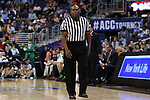 11 March 2016: Referee Les Jones. The University of North Carolina Tar Heels played the University of Notre Dame Fighting Irish at the Verizon Center in Washington, DC in the Atlantic Coast Conference Men's Basketball Tournament semifinal and a 2015-16 NCAA Division I Men's Basketball game. UNC won the game 78-47.