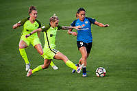 Kansas City, MO - Saturday June 17, 2017: Lindsay Elston, Jess Fishlock, Lo'eau Labonta during a regular season National Women's Soccer League (NWSL) match between FC Kansas City and the Seattle Reign FC at Children's Mercy Victory Field.