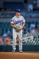 Tennessee Smokies starting pitcher Michael Rucker (28) gets ready to deliver a pitch during a game against the Birmingham Barons on August 16, 2018 at Regions FIeld in Birmingham, Alabama.  Tennessee defeated Birmingham 11-1.  (Mike Janes/Four Seam Images)