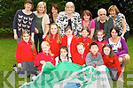 Pupils from Holy Cross NS Killarney with the Green Flag they raised at the school on Monday front row l-r: Dawn Courtney, Kayleigh Byrne, Erin Doheny, Jiahao Huang, Eve Crowley. Middle row: Aoibhe Coffey, Rebecca Walsh, Laura Kenny, Katie O'Sullivan, Sarah Looney and Ursulla Coffey Principal Back row: Marie Westlake, Siobhain Clancy, Frances Arthur, Senator Marie Moloney, Lucy O'Mahony, Sean O'Brien and Breda Murphy..