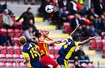 S&ouml;dert&auml;lje 2014-05-31 Fotboll Superettan Syrianska FC - &Auml;ngelholms FF :  <br /> Syrianskas Dinko Felic i duell med &Auml;ngelholms Eric Pothast och Samuel Monday <br /> (Foto: Kenta J&ouml;nsson) Nyckelord:  Syrianska SFC S&ouml;dert&auml;lje Fotbollsarena &Auml;ngelholm &Auml;FF