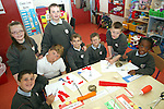 Dylan Maguire, Alisha Crosbie, Simon Dyas, Cian Martin, Cameron Greene, Dylan McKenna, John Everitt and Safi Shamavu of St.Itas School with the artwork they made for the arrival of the Special Olympics Torch next week...Photo NEWSFILE/Jenny Matthews.(Photo credit should read Jenny Matthews/NEWSFILE)....This Picture has been sent you under the condtions enclosed by:.Newsfile Ltd..The Studio,.Millmount Abbey,.Drogheda,.Co Meath..Ireland..Tel: +353(0)41-9871240.Fax: +353(0)41-9871260.GSM: +353(0)86-2500958.email: pictures@newsfile.ie.www.newsfile.ie.FTP: 193.120.102.198.