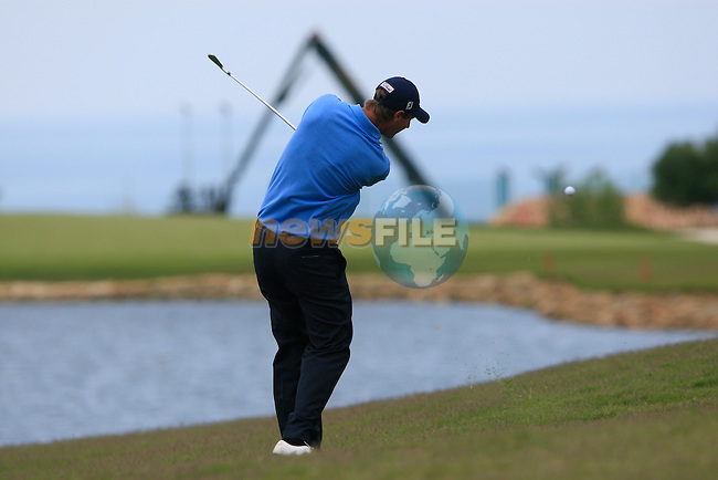 Nicolas Colsaerts (BEL) plays his 2nd shot on the 3rd hole during the afternoon session on Day 2 of the Volvo World Match Play Championship in Finca Cortesin, Casares, Spain, 20th May 2011. (Photo Eoin Clarke/Golffile 2011)