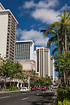 Downtown Waikiki, Honolulu, Oahu, Hawaii