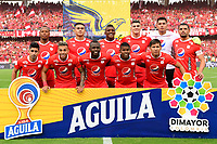 CALI - COLOMBIA, 17-11-2019: Jugadores del América posan para una foto previo al partido por la fecha 3, cuadrangulares semifinales, de la Liga Águila II 2019 entre América de Cali y Deportivo Cali jugado en el estadio Pascual Guerrero de la ciudad de Cali. / Players of America pose to a photo prior match for the date 3, quadrangular semifinals, as part of Aguila League II 2019 between America de Cali and Deportivo Cali played at Pascual Guerrero stadium in Cali. Photo: VizzorImage / Nelson Rios / Cont