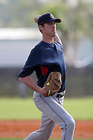 Cleveland Indians minor leaguer Rich Rundles during Spring Training at the Chain of Lakes Complex on March 16, 2007 in Winter Haven, Florida.  (Mike Janes/Four Seam Images)