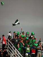 The Manawatu bucketheads celebrate victory during the Air NZ Cup rugby match between Manawatu Turbos and Counties-Manukau Steelers at FMG Stadium, Palmerston North, New Zealand on Sunday, 2 August 2009. Photo: Dave Lintott / lintottphoto.co.nz