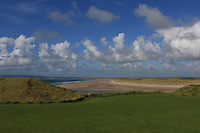 A view of Banna Strand from the 1st tee during the Munster Final of the AIG Barton Shield at Tralee Golf Club, Tralee, Co Kerry. 12/08/2017<br /> Picture: Golffile | Thos Caffrey<br /> <br /> <br /> All photo usage must carry mandatory copyright credit     (&copy; Golffile | Thos Caffrey)