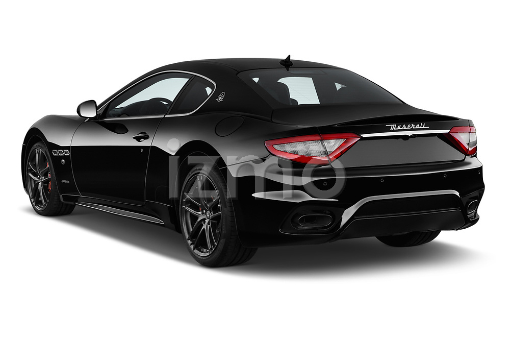 Car pictures of rear three quarter view of a 2018 Maserati GranTurismo Automatic 2 Door Coupe angular rear