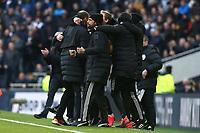 The Wolves bench celebrate the third goal during Tottenham Hotspur vs Wolverhampton Wanderers, Premier League Football at Tottenham Hotspur Stadium on 1st March 2020