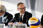 24.01.2018, Hamburg, Penthouse Elb-Panorama / Atlantic Haus<br />Beachvolleyball, Pressekonferenz FIVB World Championships / Weltmeisterschaft<br /><br />Thomas Krone (PrŠsident / Praesident Deutscher Volleyball Verband DVV)<br /><br />  Foto © nordphoto / Kurth