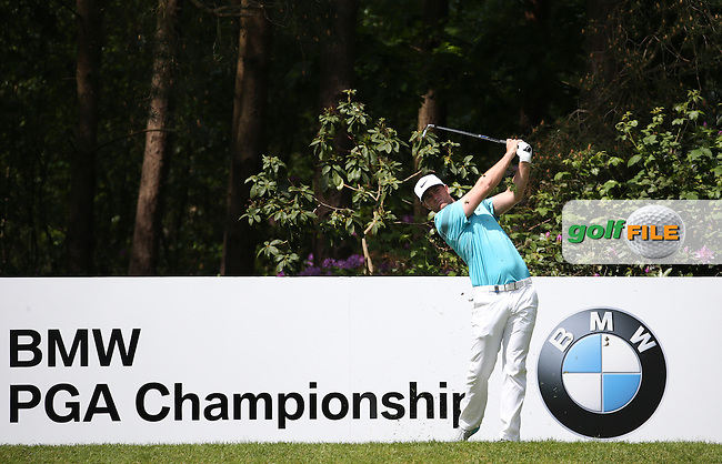 Lucas Bjerregaard (DEN) during Round One of the 2016 BMW PGA Championship over the West Course at Wentworth, Virginia Water, London. 26/05/2016. Picture: Golffile | David Lloyd. <br /> <br /> All photo usage must display a mandatory copyright credit to &copy; Golffile | David Lloyd.