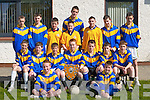 First year students in Castleisland Community College who won the County Vocational Schools first year title when they defeated Causeway in Castleisland last Monday l-r front Michael O'Donoghue, Francis McAulliffe, middle row Tomas Nolan, Seamus O'Leary, Eamon McLoughlin, Tomas Hickey Captain, Donnagh O'Connor, Gearoid Leonard, Damian O'Sullivan, back row JJ Casey, Declan Cahill, Donal McCarthy,Sean McCarthy, Evan Roche, Cian O'Connor, Joesph Hogan and Denis Roche