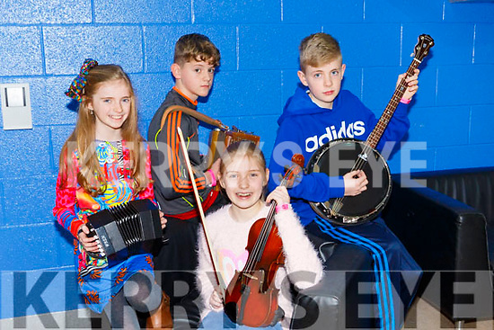 Ceol an Gheimhridh competitions at the IT Tralee South Campus on Saturday. Pictured were Fiona McSweeney, Anna McSweeney, Shane Browne, Eoin McSweeney from Brosnan CCE