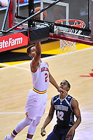 Melo Trimble of the Terrapins gets a bucket. Maryland defeated Georgetown 75-71 during a game at Xfinity Center in College Park, MD on Wednesday, November 17, 2015.  Alan P. Santos/DC Sports Box