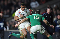 Anthony Watson, FEBRUARY 27, 2016 - Rugby : Anthony Watson of England runs into Rob Kearney of Ireland during the RBS 6 Nations match between England and Ireland at Twickenham Stadium, London, United Kingdom. (Photo by Rob Munro)