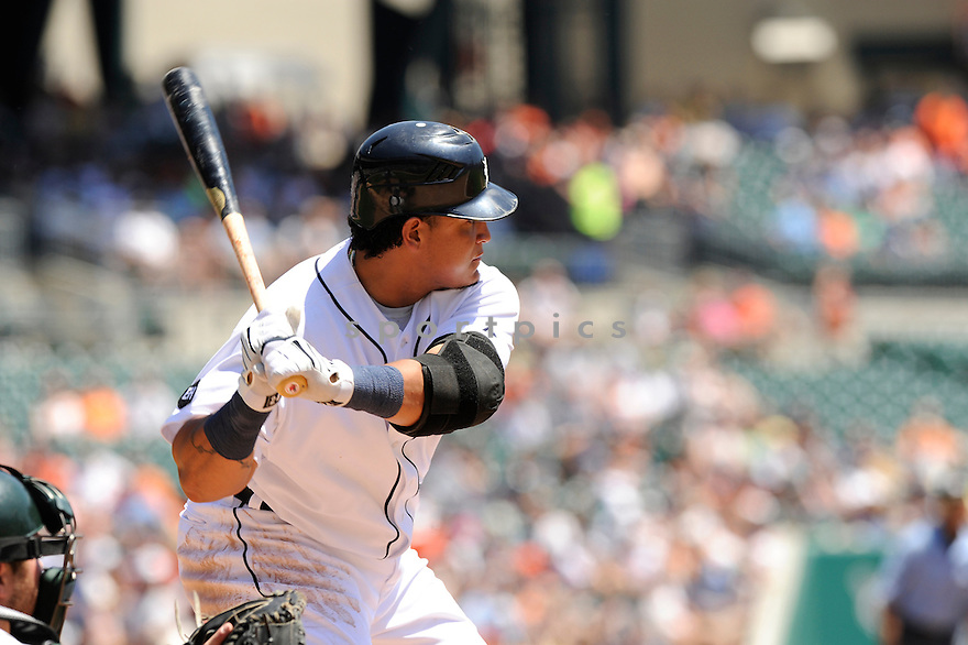 MIGUEL CABRERA,  of the Detroit Tigers  in action  during the Tigers game against the Oakland A's.  The Tigers beat the A's 10-2 in Detroit, Michigan on May 30, 2010...David Durochik