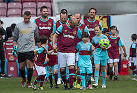 West Ham United supporters say farewell to the Boleyn ground playing a friendly match on the pitch at the Boleyn Ground, London, England on 20 May 2016. Photo by Kev Prescod.
