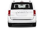 Straight rear view of2015 Dodge Grand Caravan SXT PLUS 5 Door Minivan Rear View  stock images