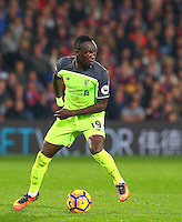 Sadio Mane of Liverpool in action during the EPL - Premier League match between Crystal Palace and Liverpool at Selhurst Park, London, England on 29 October 2016. Photo by Steve McCarthy.