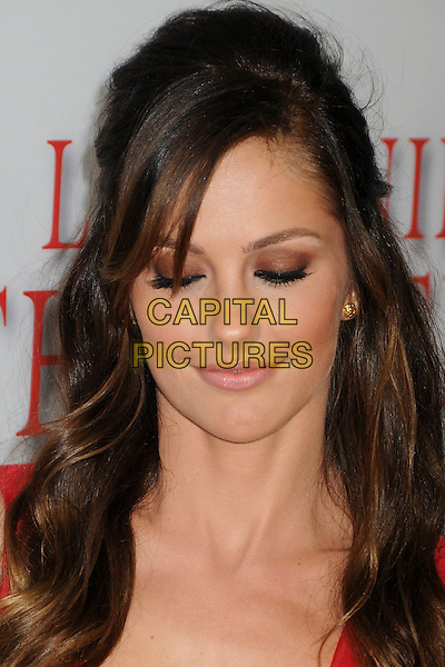 Minka Kelly<br /> &quot;Lee Daniels' The Butler&quot; Los Angeles Premiere held at Regal Cinemas L.A. Live, Los Angeles, California, USA.<br /> August 12th, 2013<br /> headshot portrait red  eyes closed eyeshadow <br /> CAP/ADM/BP<br /> &copy;Byron Purvis/AdMedia/Capital Pictures