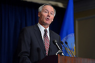 December 21, 2012  (Washington, DC)  Former U.S. Congressman Asa Hutchinson to lead the National Rifle Association's (NRA) National School Shield, an effort to place armed police and security in every school. Hutchinson explained the plan during a news conference at the Willard Hotel in Washington.  (Photo by Don Baxter/Media Images International)