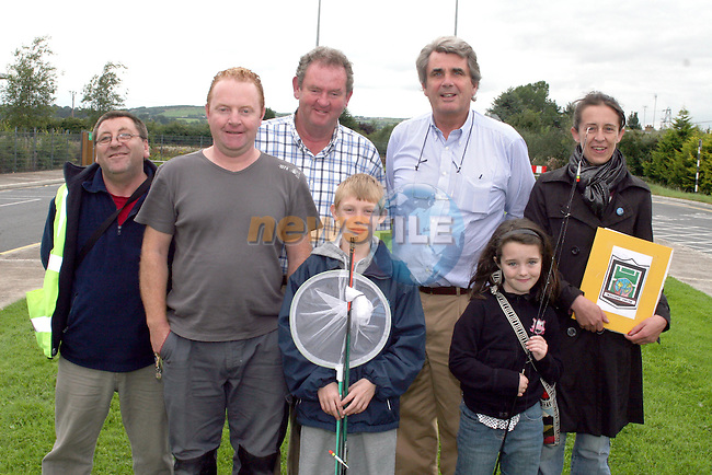 Jessica Healy and Dean Walsh with Tony Sutherland, Chairperson of Welcome Youth Project, David Dennis, Drogheda Anglers, Pat Rooney and Oliver Lynn from the  Des Smyth Youth Foundation and Sharon Healy, Coordinator of the Welcome Youth Project as the final group of the Welcome Youth Project's FIshing Course heading off to Rathesker Lake...Photo NEWSFILE/Jenny Matthews.(Photo credit should read Jenny Matthews/NEWSFILE)....This Picture has been sent you under the condtions enclosed by:.Newsfile Ltd..The Studio,.Millmount Abbey,.Drogheda,.Co Meath..Ireland..Tel: +353(0)41-9871240.Fax: +353(0)41-9871260.GSM: +353(0)86-2500958.email: pictures@newsfile.ie.www.newsfile.ie.FTP: 193.120.102.198.