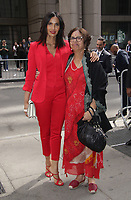 NEW YORK, NY - APRIL 13: Padma Lakshmi and mother Vijaya Lakshmi at Variety's Power Of Women: New York at Cipriano Wall Street in New York City on April 13, 2018. <br /> CAP/MPI99<br /> &copy;MPI99/Capital Pictures