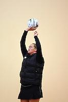 Silver Fern's Cathrine Latu training for the New World Netball Series match, Wallacetown Stadium, Invercargill, New Zealand, Saturday, September 14, 2013. ©MBPHOTO/Dianne Manson Michael Bradley Photography